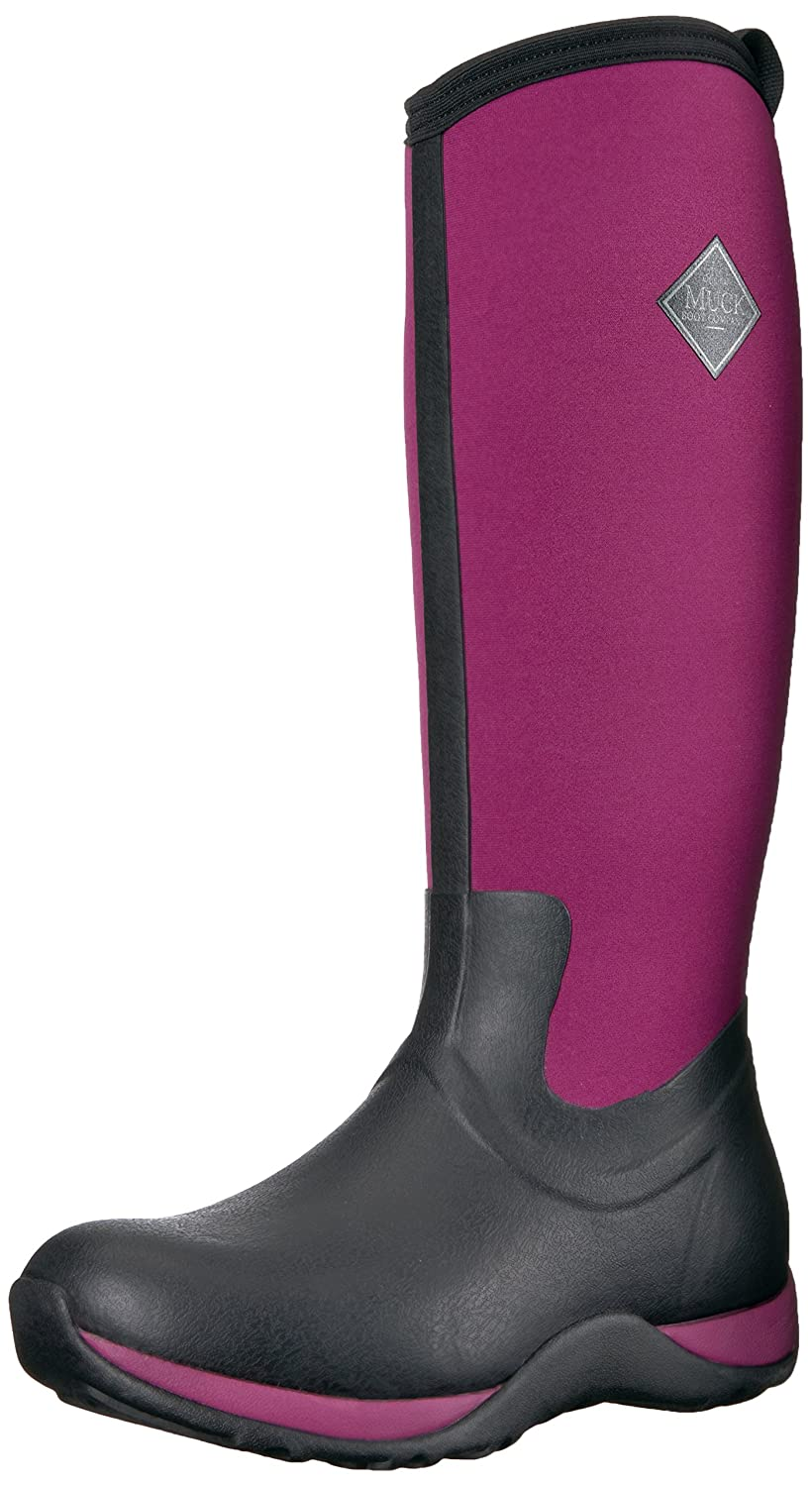 Muck Boot Women's Arctic Adventure Tall Snow Boot B00BN60YHY 6 B(M) US|Black/Maroon