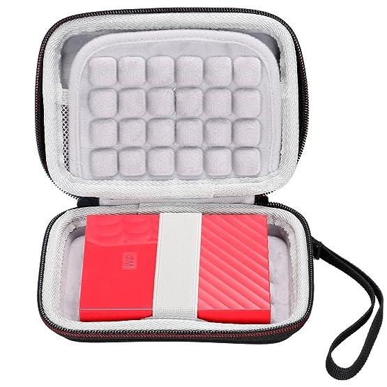 LTGEM EVA Hard Case Carry Bag Cover for Western Digital WD My Passport Ultra Elements SE Toshiba Canvio Seagate Backup Transcend 2TB External Hard Drive Kingston MLWG2 RAVPower FileHub Accessories & P at amazon