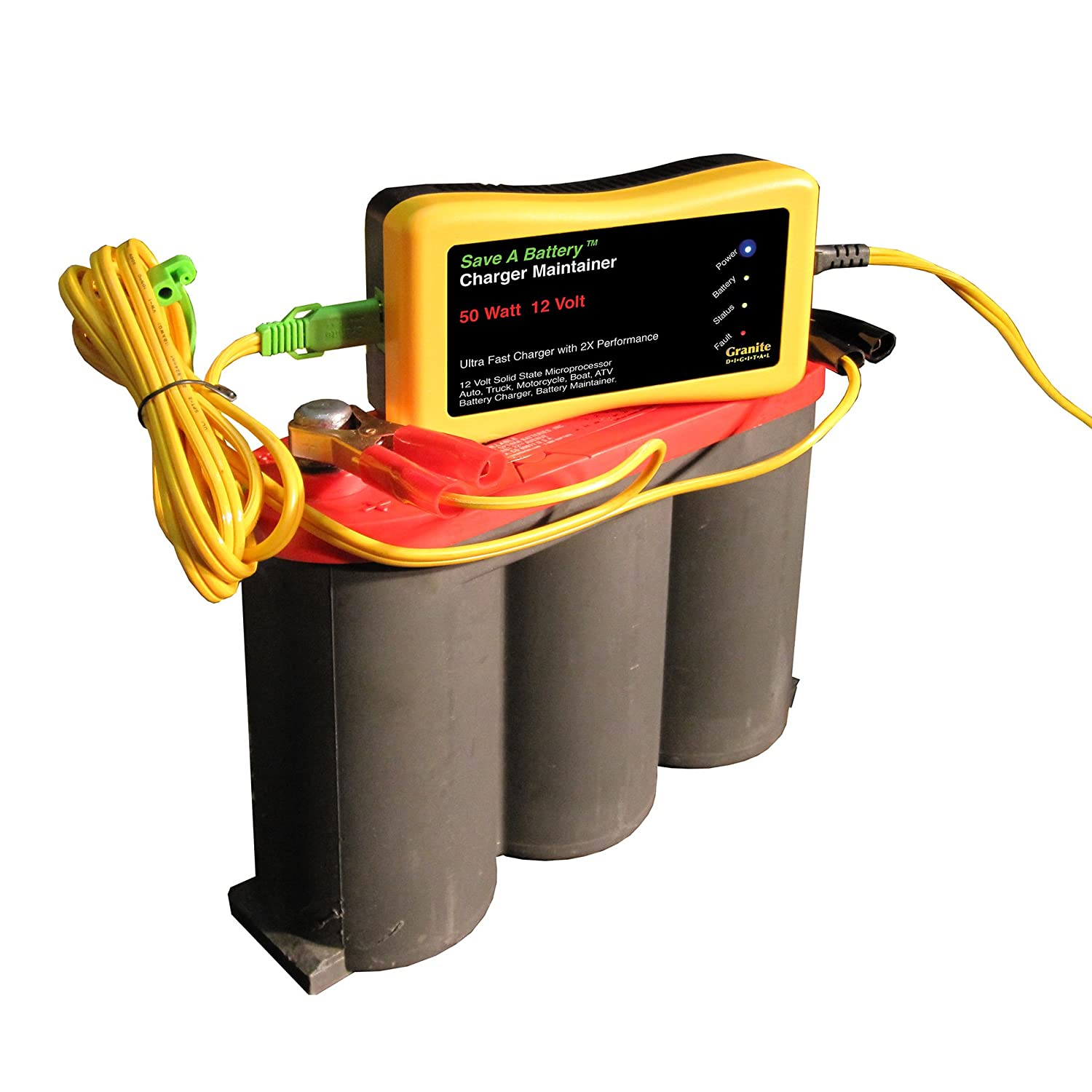 Battery Saver 2365 12v 50w Quick Charger And Auto Pulse Desulphation Progress Monitor Maintainer Automotive