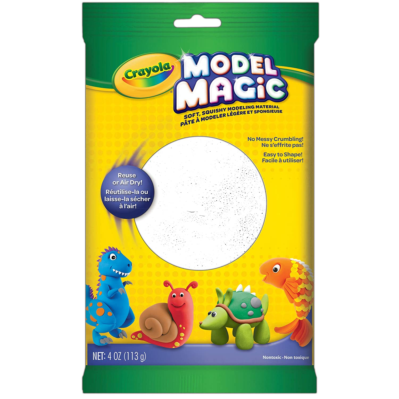 Crayola Model Magic White, Modeling Clay Alternative, 4 oz