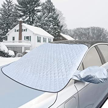 FrostGuard Deep Blue Standard Size Windshield Cover NEW! Mirror Protectors