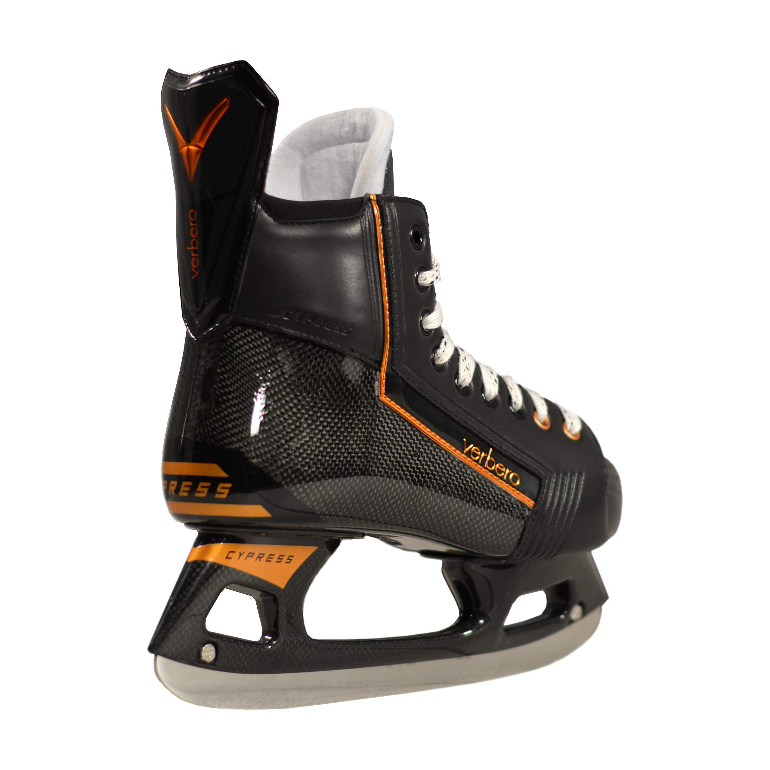 VERBERO Cypress Pro+ Ice Hockey Skate (Black 6.0) by VERBERO (Image #2)
