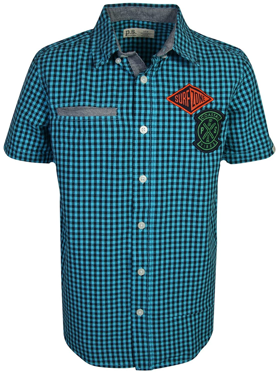 p.s from aeropostale Boys Short Sleeve Button Down Woven Shirt