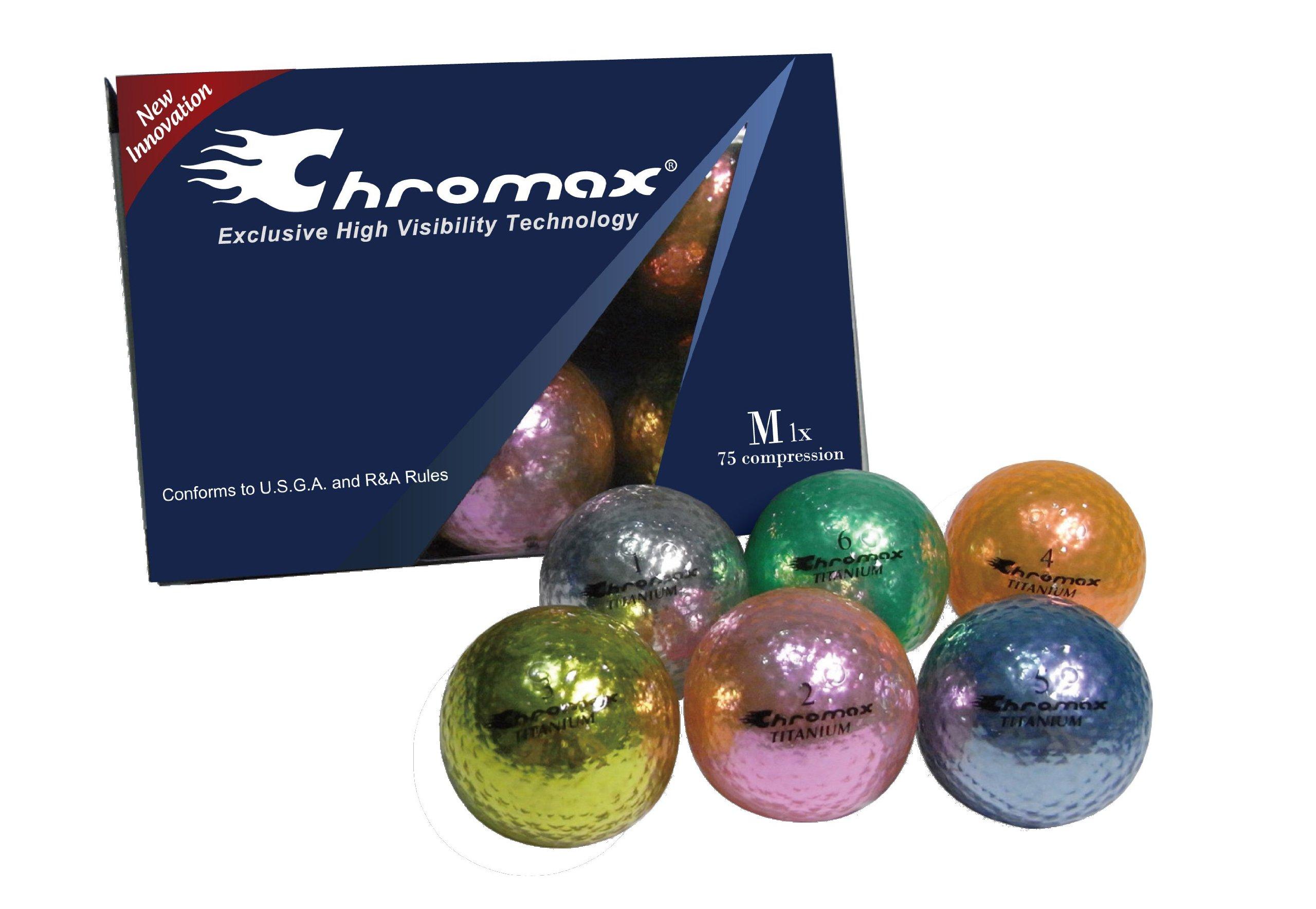 Chromax Metallic I Golf Balls - Mixed Colors