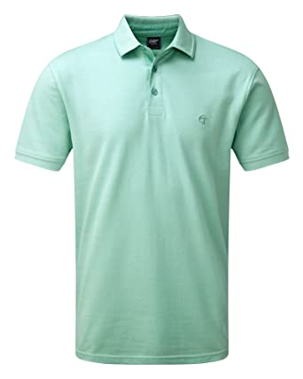 Cotton Traders Mens Pique Polo Shirt Top Pale Mint XXXX-Large ... d46843ec4