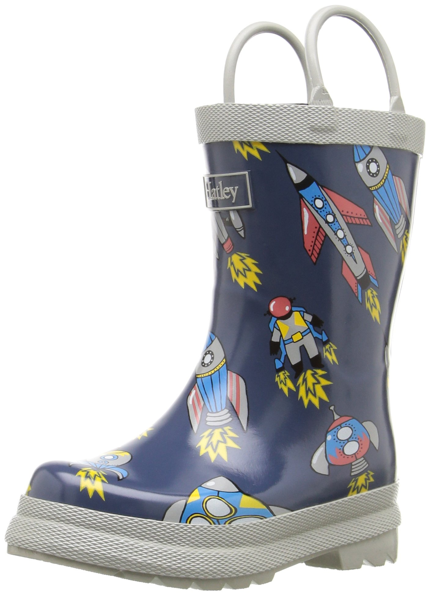Hatley Boys' Printed Rain Boots Accessory, Retro Rocket 10 US Child
