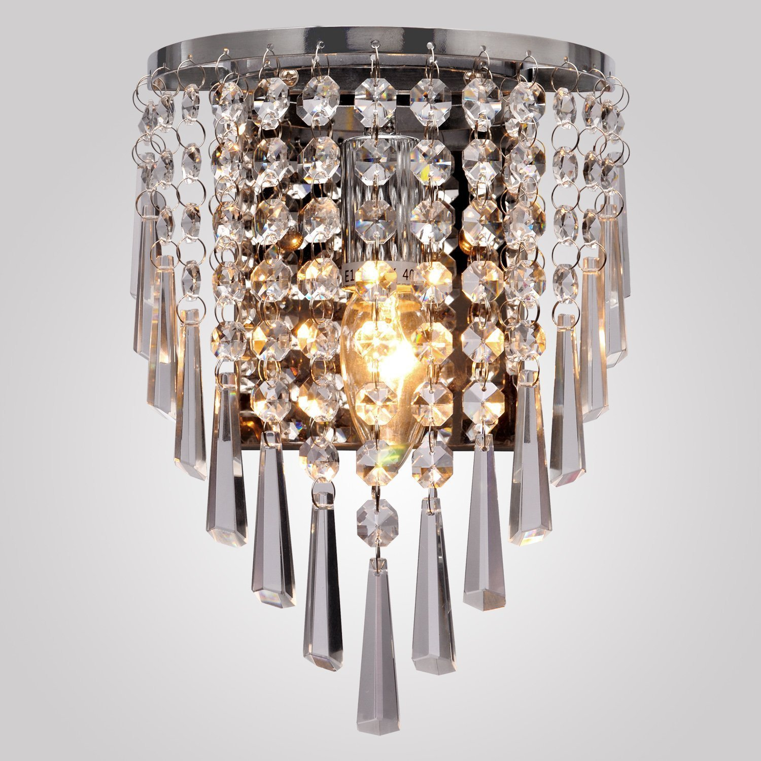 Vintage Antique Style Crystal Droplet Sconce Wall Lamp Light Fixture Lighting eBay