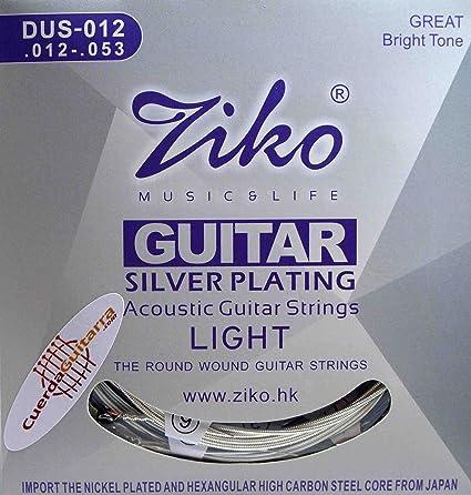2 Juegos de cuerdas ZIKO DUS-012 para Guitarra Acústica Calibre ...