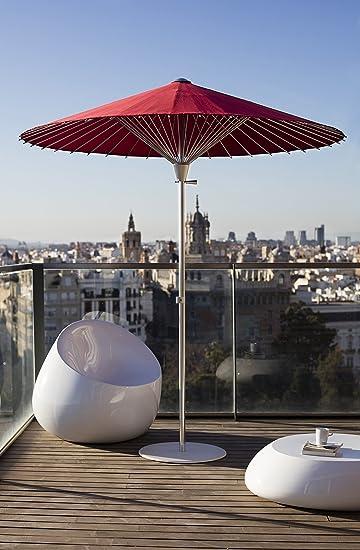 Design Sonnenschirme amazon de design sonnenschirm parasol incl fuß rot ø 200 cm