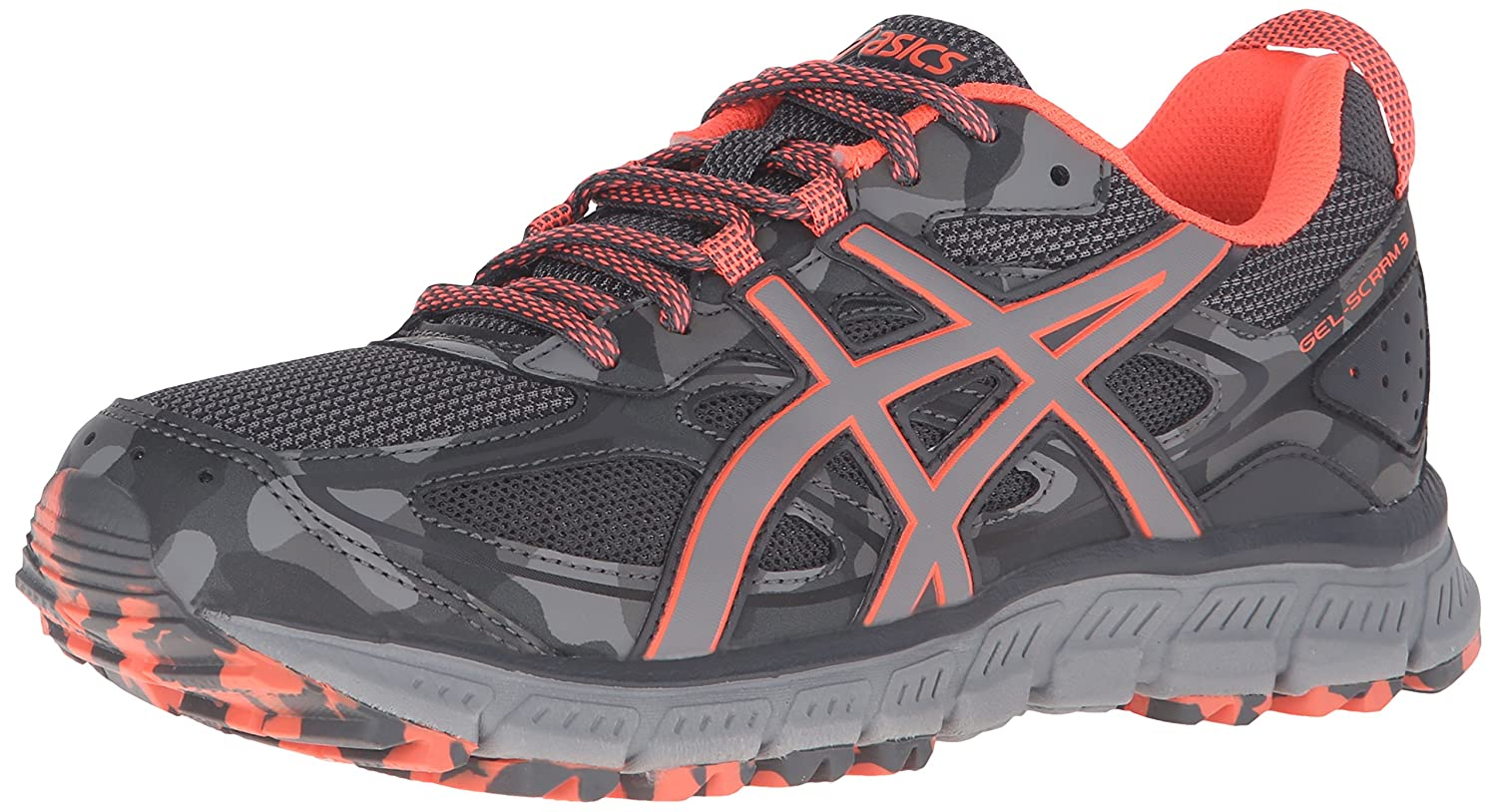 ASICS Women s Gel-Scram 3 Trail Runner Steel Grey/Flash Coral/Aluminum 8  B(M) US: Amazon.in: Shoes & Handbags