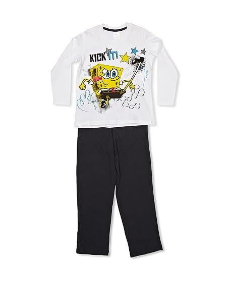 3b5d79aeff Bob Esponja Licencias Pijama Blanco 10 años (140 cm)  Amazon.es  Ropa y  accesorios