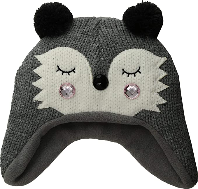 33013629 San Diego Hat Company Kids Unisex Knit Raccoon Beanie w/Ear Flaps (Little  Kids