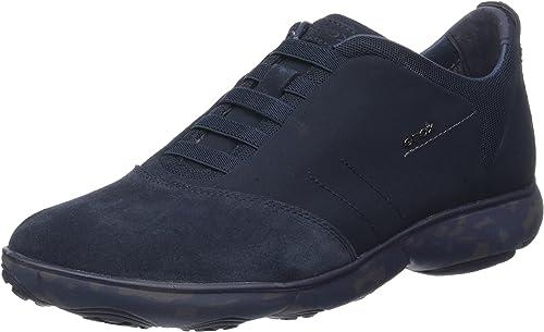 Geox Wells Chaussures Hommes-sportive basses-Chaussure Lacée Bleu Nouveau