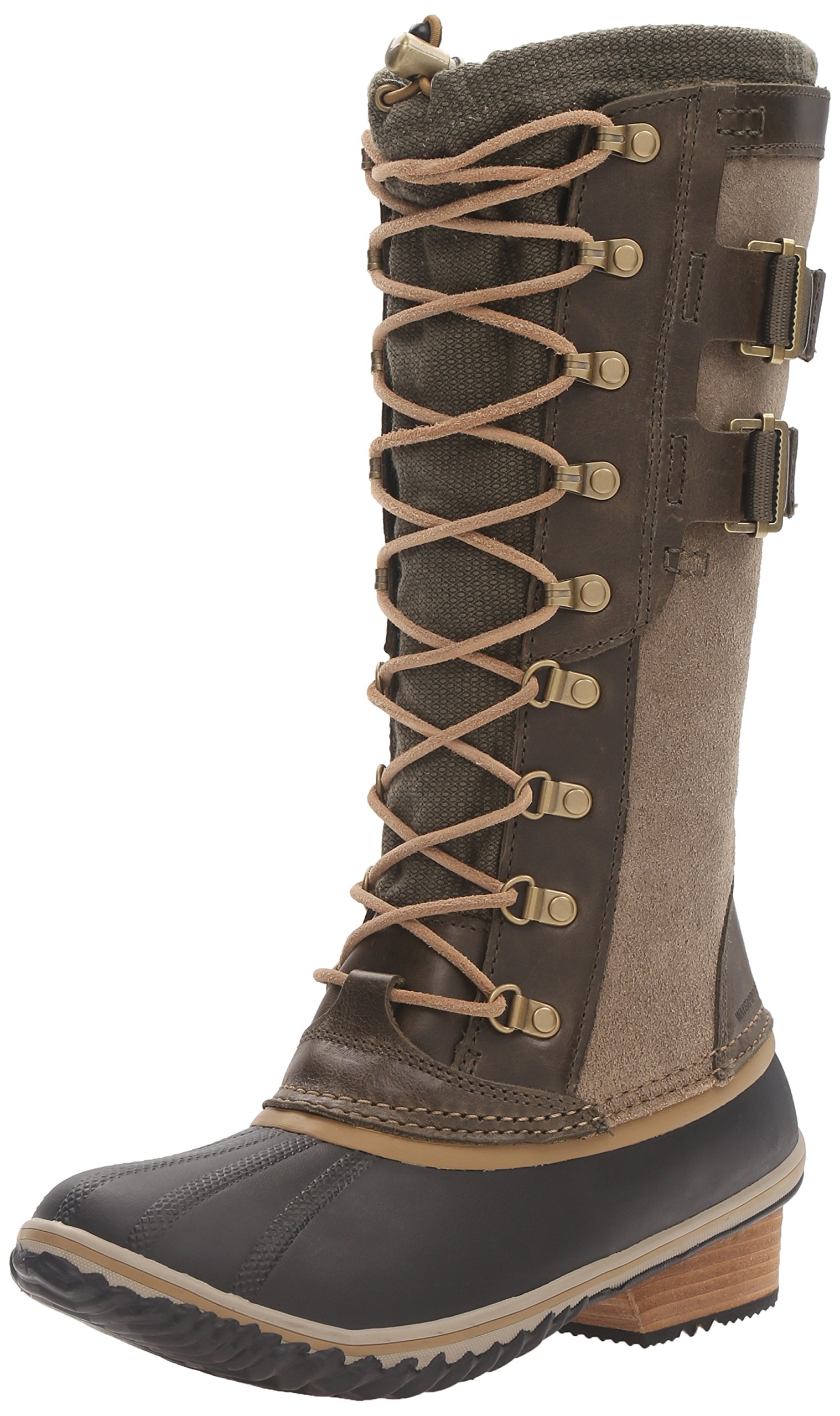 Sorel Women's Conquest Carly II Snow Boot, Peat Moss, Glare, 8.5 B US