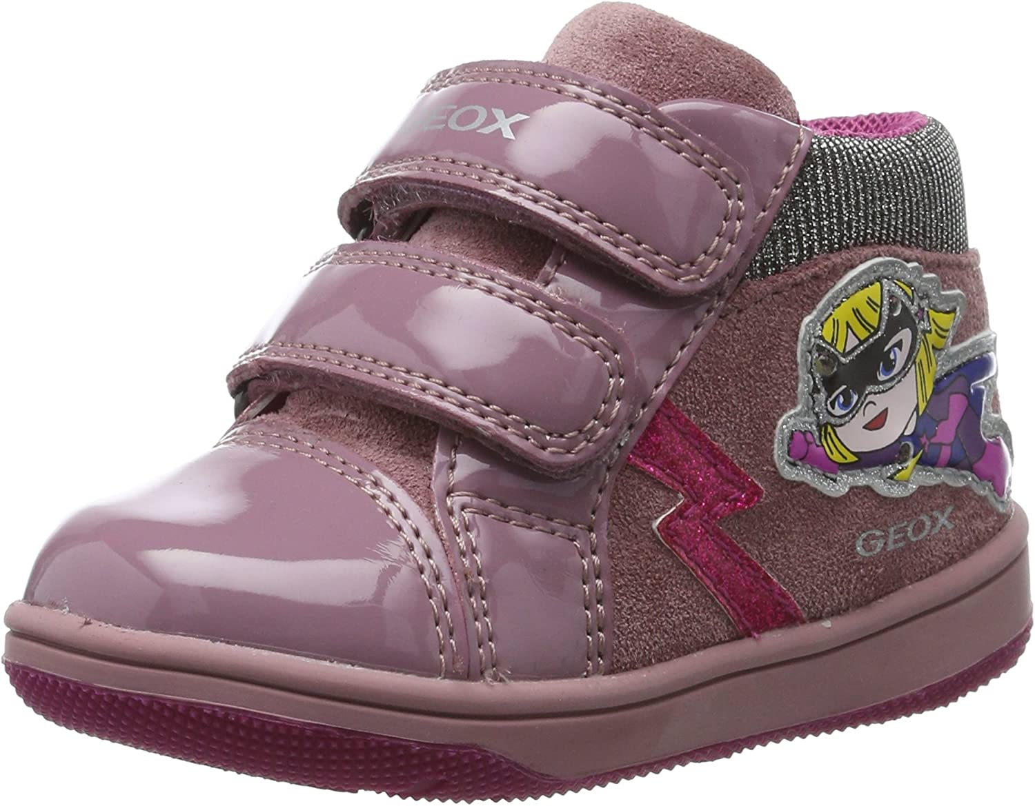 habla Supervivencia moneda  Geox Baby Girls B New Flick E Sneaker, Pink Dk Pink, 3.5 UK Child:  Amazon.co.uk: Shoes & Bags