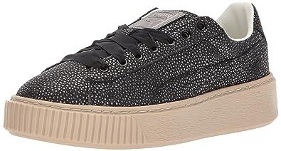 PUMA Women's Platform Lux Wn Sneaker, Black Black, 8.5 M US