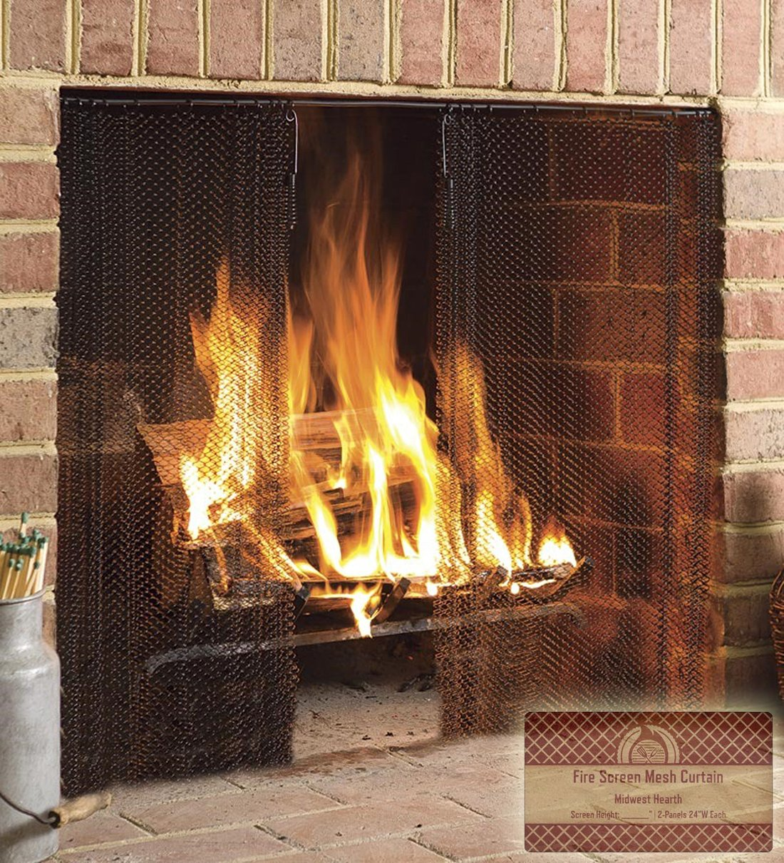 image ed permalink mesh curtain l fireplace screens home screen