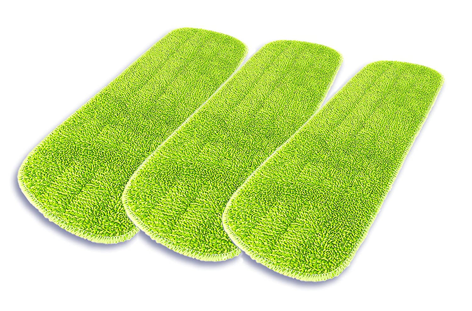 Washable Reusable Dry Home Professional 17 Microfiber Wet and Dry Mop Head Refill 3 Pack for Wet Scrubbing and Dusting Kitchen