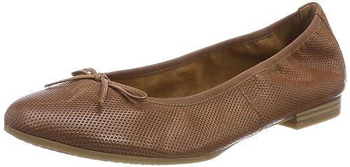 22116, Zapatos de Tacón Para Mujer, Marrón (Cognac Struc ), 41 EU Tamaris