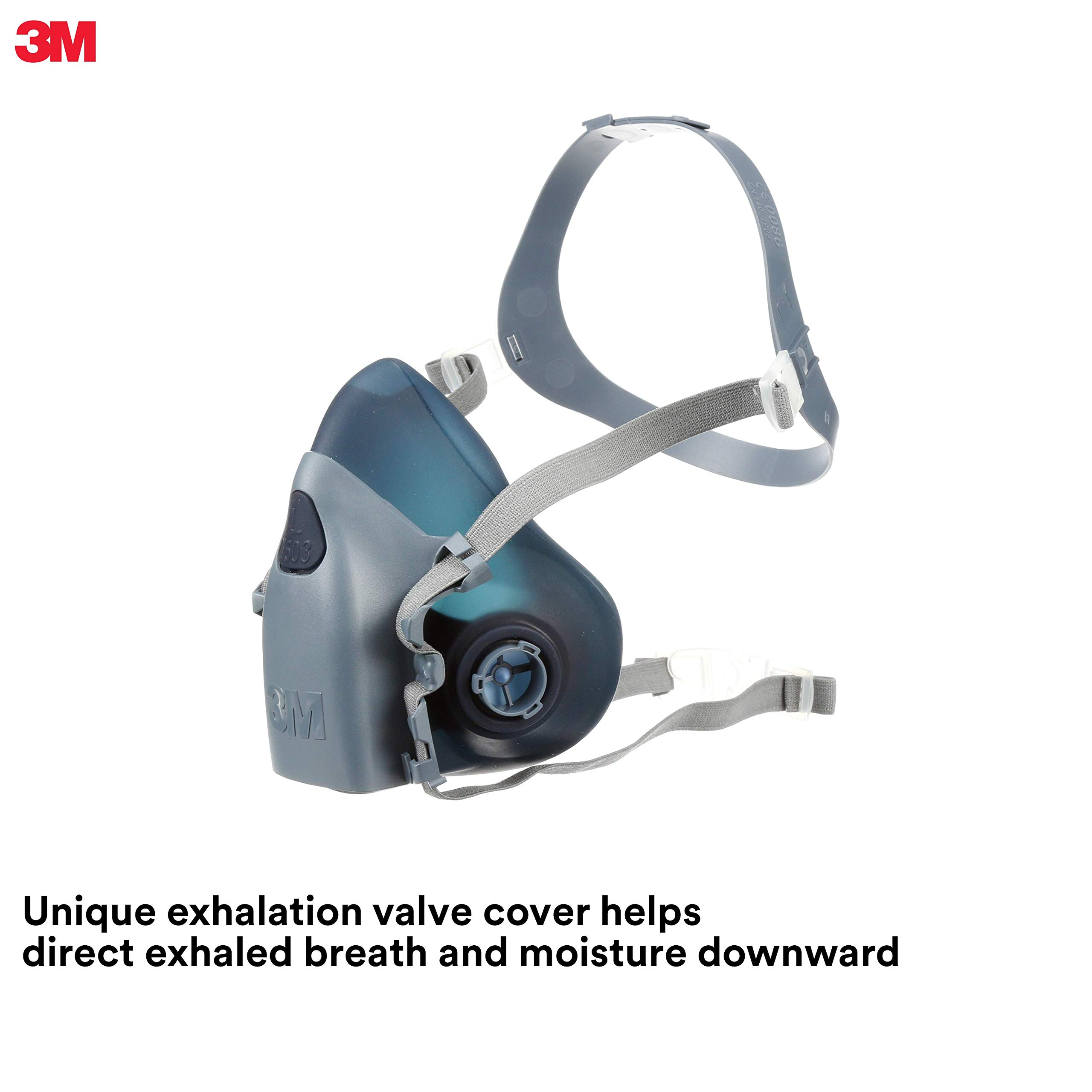 3M Large Half Facepiece Reusable Respirator 7503/37083(AAD), Respiratory Protection, Large by 3M Personal Protective Equipment
