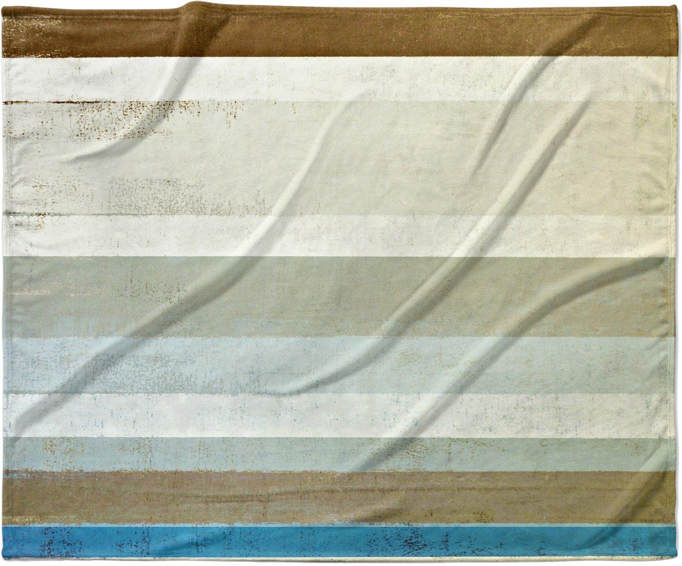 KESS InHouse CarolLynn Tice 'Invent' Neutral Brown Fleece Baby Blanket, 40' x 30'