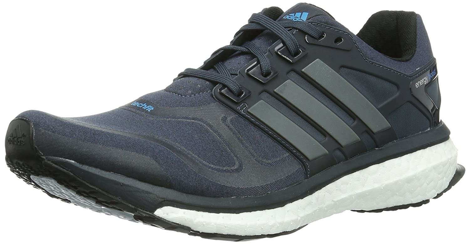 adidas Men's Energy Boost 2 M Dark Onix, Carbon Metallic and Solar Blue  Mesh Running Shoes - 9 UK: Buy Online at Low Prices in India - Amazon.in