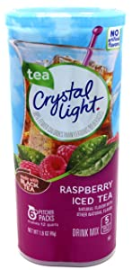 Crystal Light Raspberry Iced Tea Drink Mix, 12-Quart 1.6-Ounce Canister (Pack Of 3)