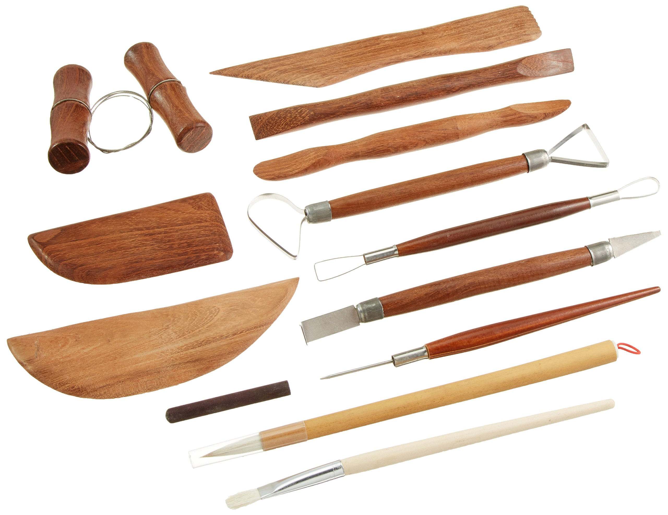 Jack Richeson Deluxe 12-Piece Pottery Tool Set with Storage Canister