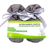 Golden Value SG Bamboo Charcoal Deodorizer Mini Bags, Silver Grey