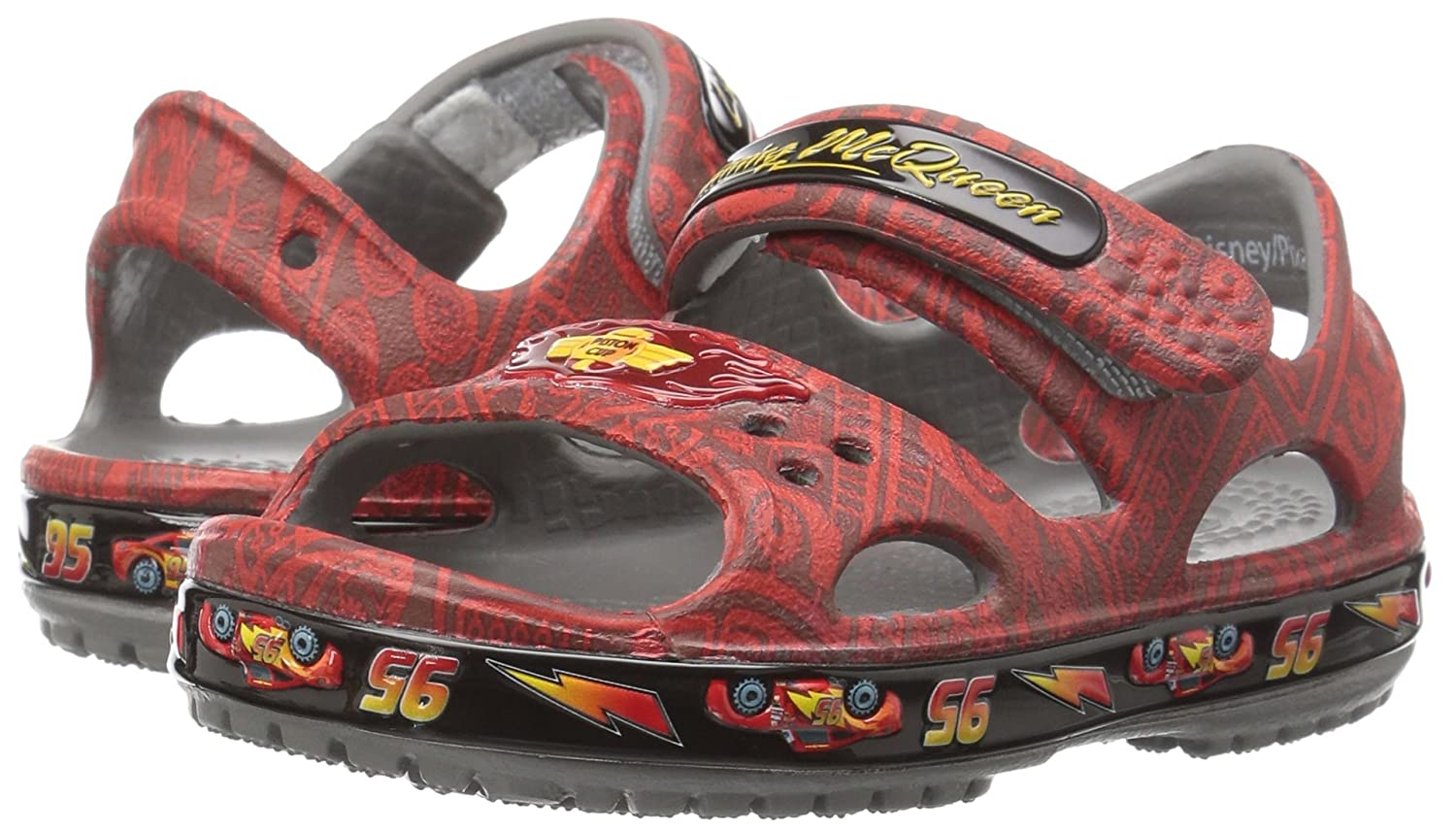 3b42dcabb4a700 crocs Kids  Cars Lightning McQueen Sandal  Buy Online at Low Prices in  India - Amazon.in