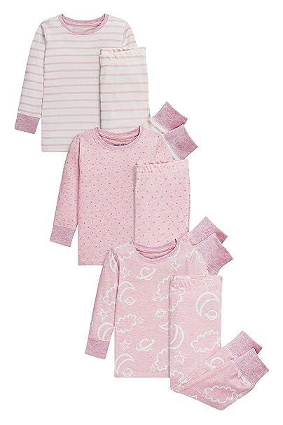 next Niñas Pack De Tres Pijamas Cómodos con Nubes (9 Meses - 8 Años) Rosa 7-8 años: Amazon.es: Ropa y accesorios