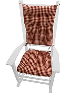 Rocking Chair Cushions   Checkers Red U0026 Tan   Size Extra Large   Latex Foam