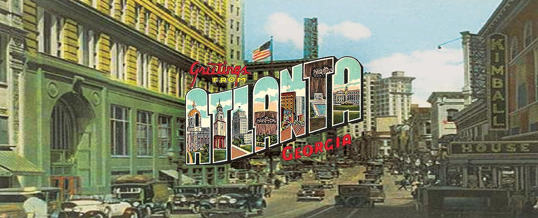 Lamp-In-A-Box TRI-TRV-ATLAN Travel Atlanta Postcard Tripod Lamp 8 x 8 x 14