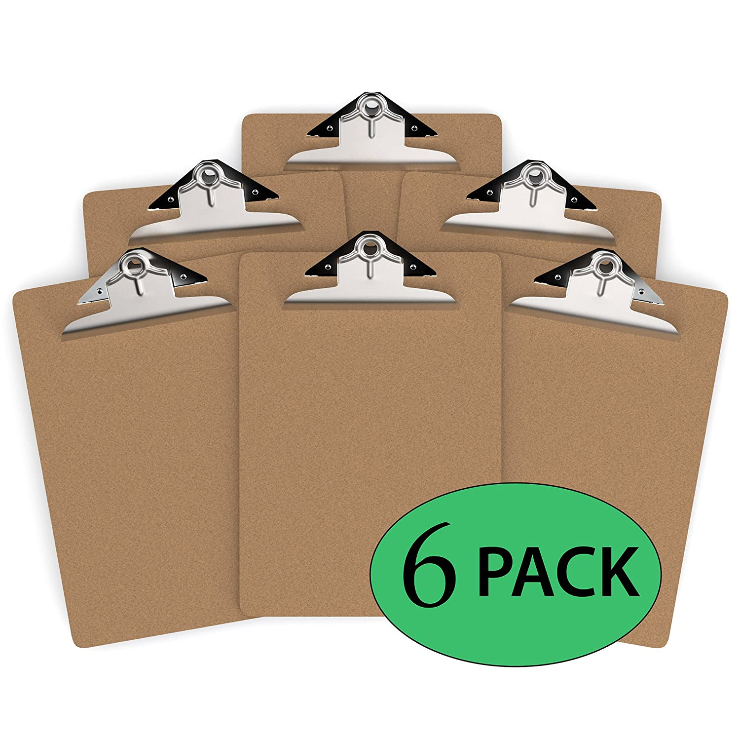 Davis Group Clipboard, Letter Size (9 x 12), Hardboard - 6 Pack