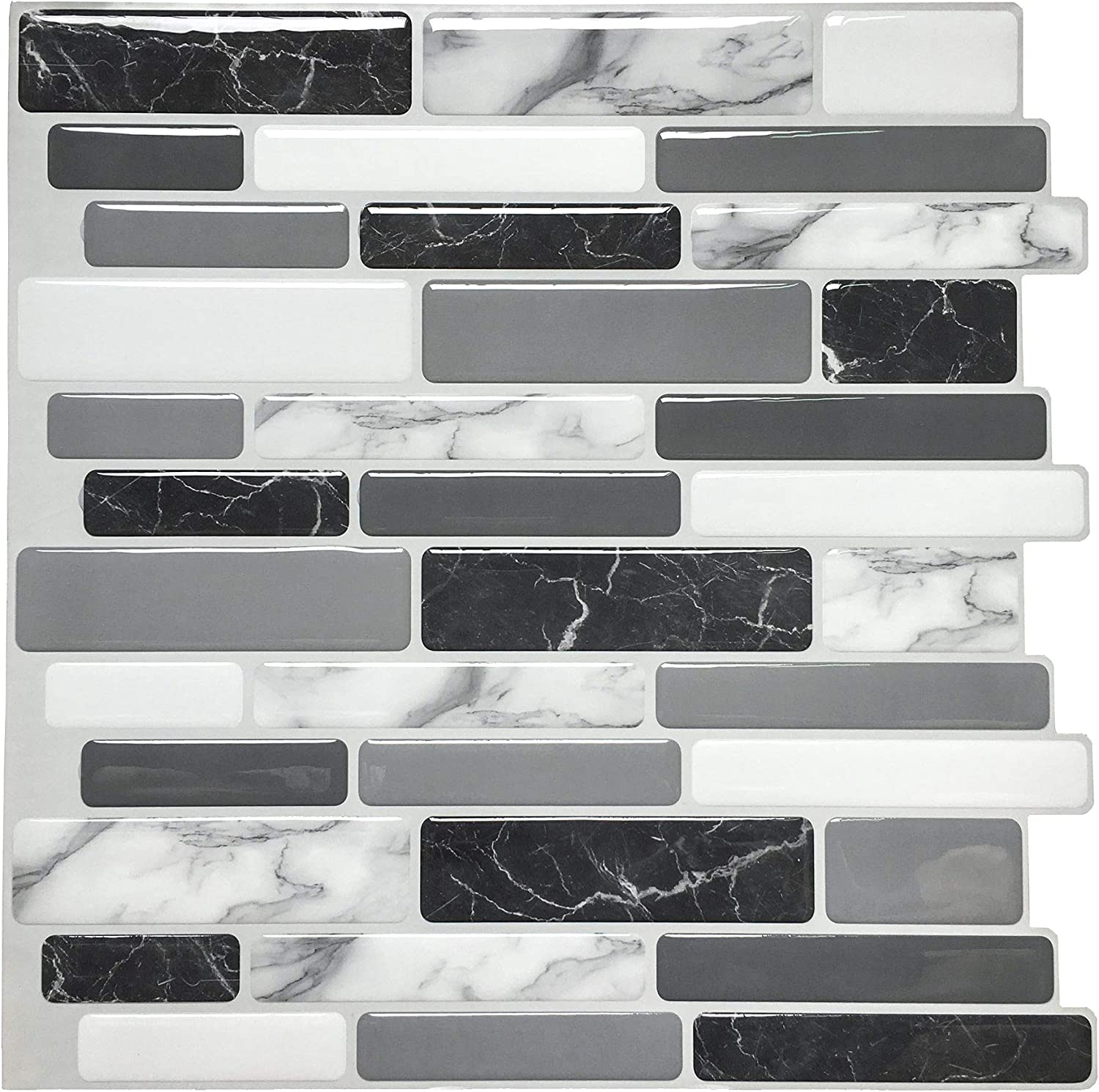 Amazon Com Art3d Peel And Stick Wall Tile For Kitchen Backsplash 12 X12 10 Tiles Home Kitchen