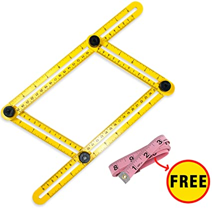 Ponhoza Template Tool + FREE a Tape Measure For Hanging Tile, Laying ...