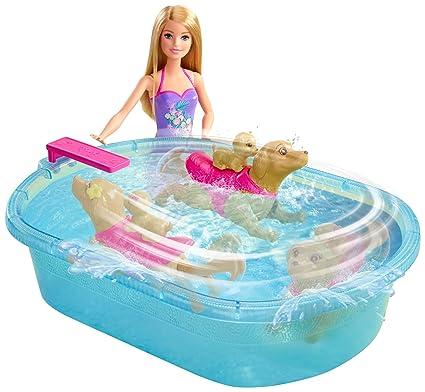 Amazon Es Barbie Piscina De Perritos Mattel Dmc32 Juguetes Y
