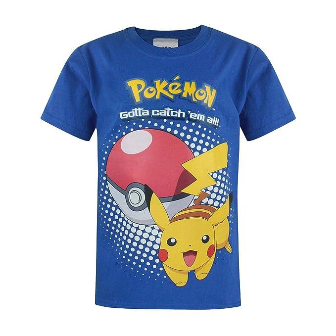 Pokèmon - Camiseta Modelo Pikachu para niños (12-13 Años/Azul): Amazon.es: Ropa y accesorios