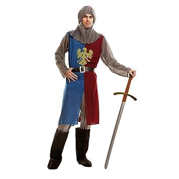 My Other Me Me-202791 Disfraz de caballero medieval para hombre, Color azul y granate, S (Viving Costumes 202791