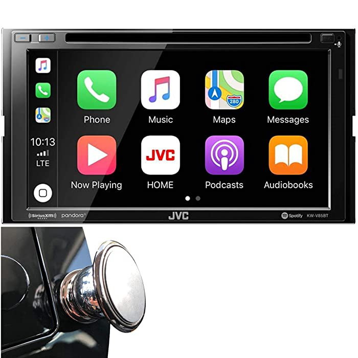"""JVC Double DIN Bluetooth in-Dash DVD/CD/AM/FM Car Stereo Receiver w/ 6.8"""" Touchscreen LCD Display, Apple Car Play, Android Auto"""