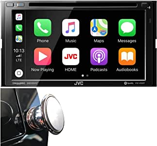 "JVC Double DIN Bluetooth in-Dash DVD/CD/AM/FM Car Stereo Receiver w/ 6.8"" Touchscreen LCD Display, Apple Car Play, Android Auto"