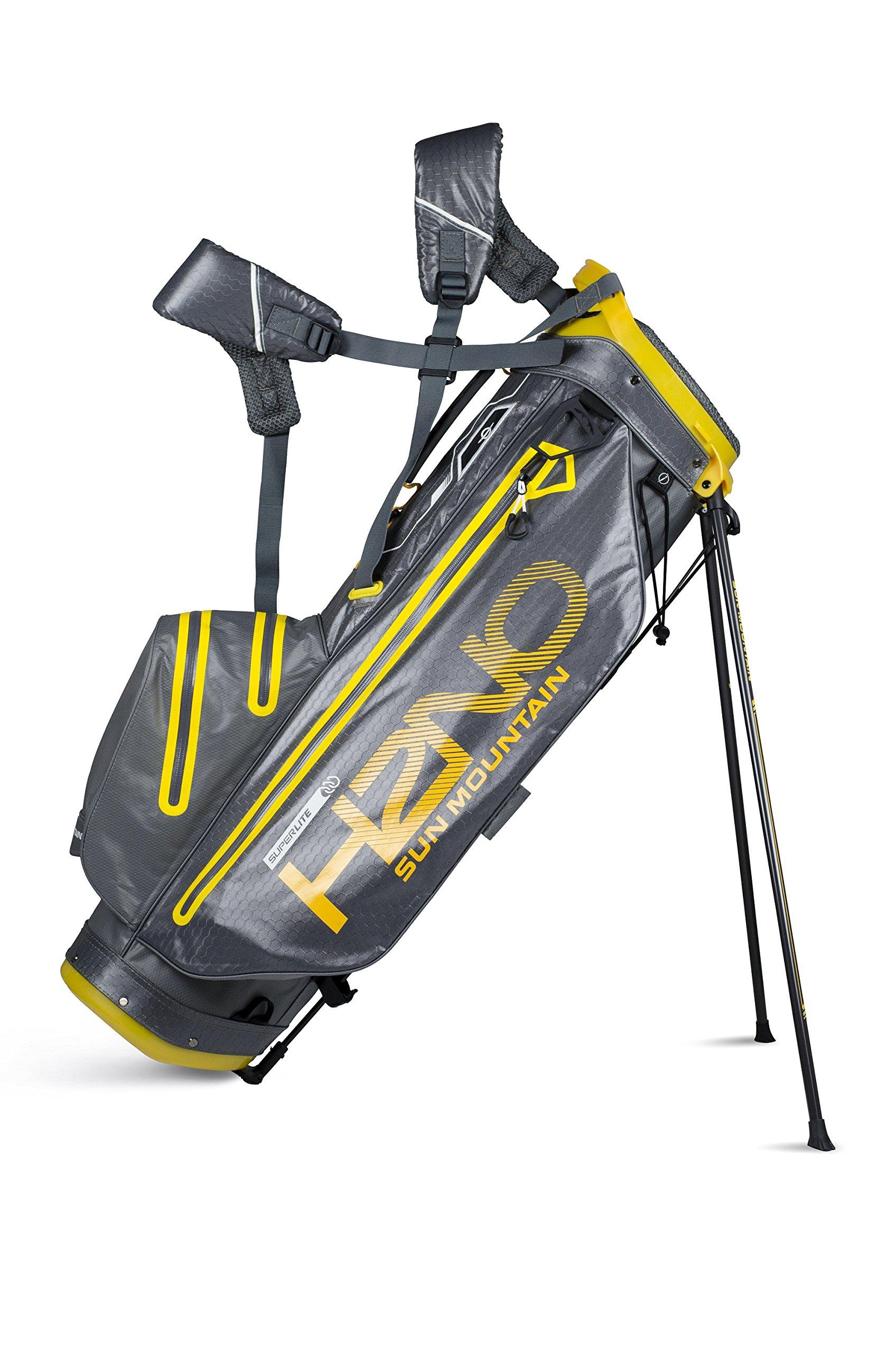 Sun Mountain H2NO Superlite Stand Bag 2018 Gunmetal/Yellow