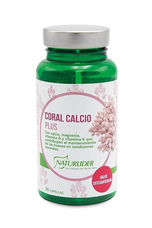 Naturlíder Coral Calcio Plus Calcio de Origen Vegetal Alcalinizantes - 90 Cápsulas
