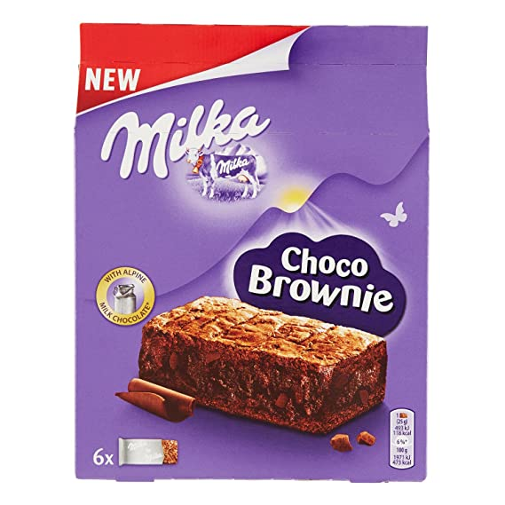 Brownie | Milka | Choco Brownie 6 Pieces | Peso total 150 gramos