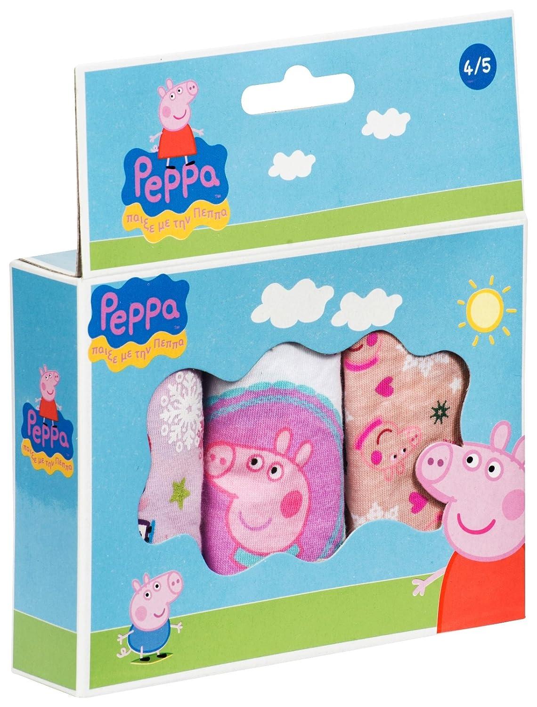Kinder//M/ädchen Slips 3 St/ück Motiv Peppa Wutz