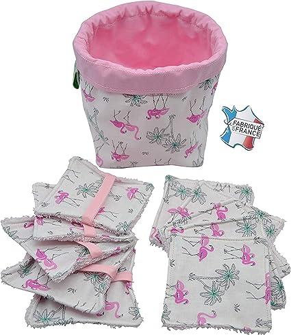 Paño de limpieza lavable, paños de limpieza cuadrados reutilizables de algodón ecológico, toalla de bebé lavable, 10 paños lavables, residuos cero, bolsa de aseo y lavadora de red.: Amazon.es: Belleza