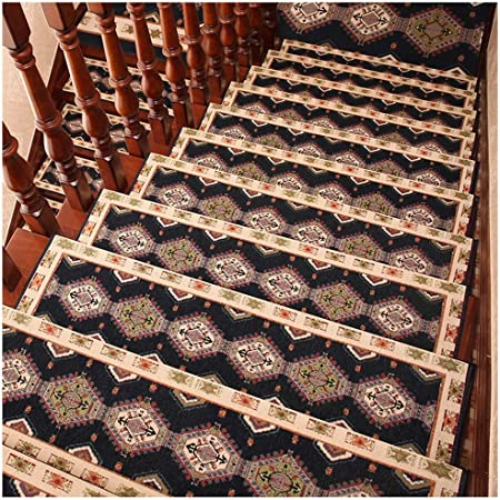 Oanzryybz Huella de peldaño de Escalera Mats Mats absorción de Agua Auto-Adhesivo, fácil de cuidar, Proteger Las escaleras, Duradero, 75cmx24cm (Color: Azul Oscuro, Tamaño: 90cmx27cm-3pcs): Amazon.es: Hogar