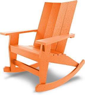 product image for Hatteras Hammocks Orange Adirondack Rocker, Eco-Friendly Durawood, All Weather Resistance, Fit 'N' Finish Handcrafted in The USA