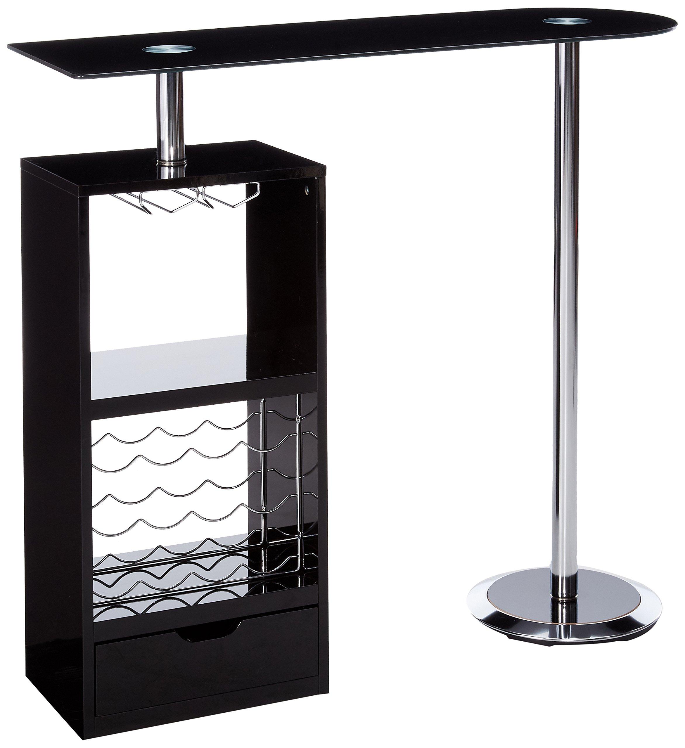 Coaster Home Furnishings Transitional Bar Table, Black