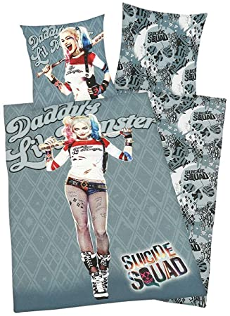 Suicide Squad Daddys Lil Monster Bettwäsche Multicolor